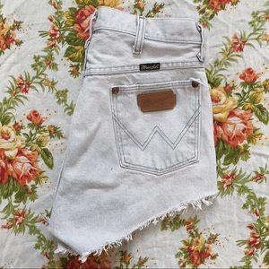 Wrangler | Vintage 70s High Waisted Denim Shorts